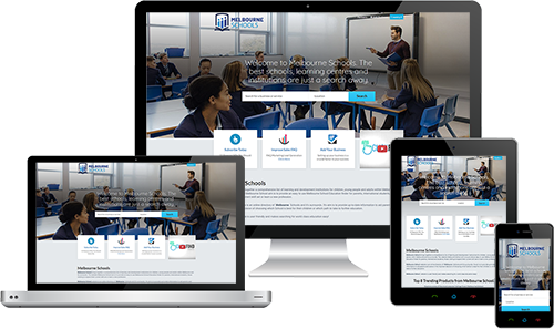 Melbourne School displayed beautifully on multiple devices